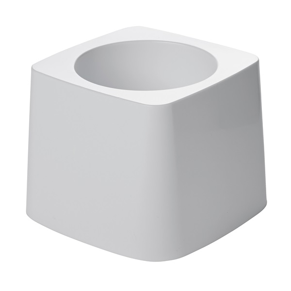 Picture of Rubbermaid FG631100WHT Toilet Brush Holder, Plastic, White