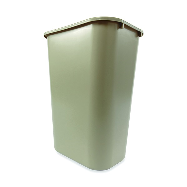 Picture of Rubbermaid 2957 Series FG295700BEIG Waste Basket, 41.25 qt Capacity, Plastic, Beige, 11 in W, 15-1/4 in D