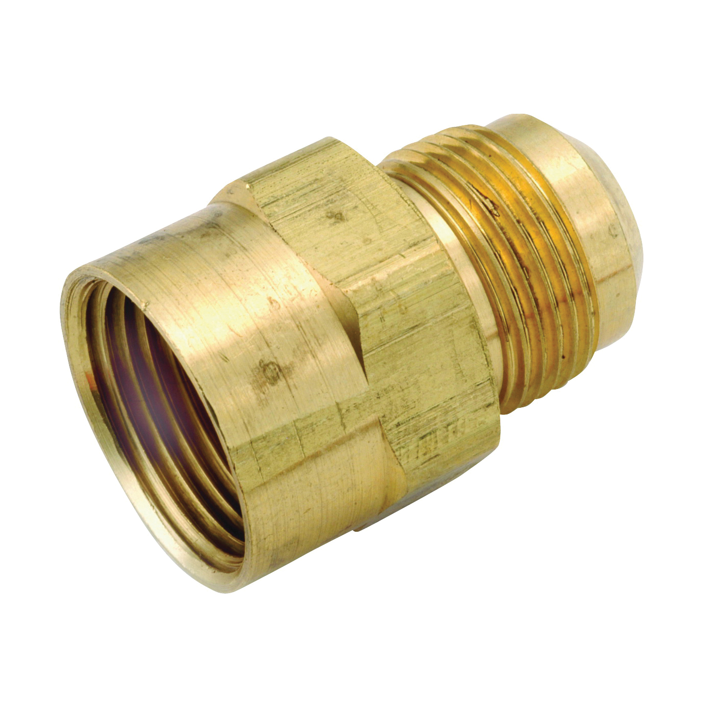 Picture of Anderson Metals 54746-1512 Pipe Coupler, 15/16 x 3/4 in, Flare x FIP, Brass