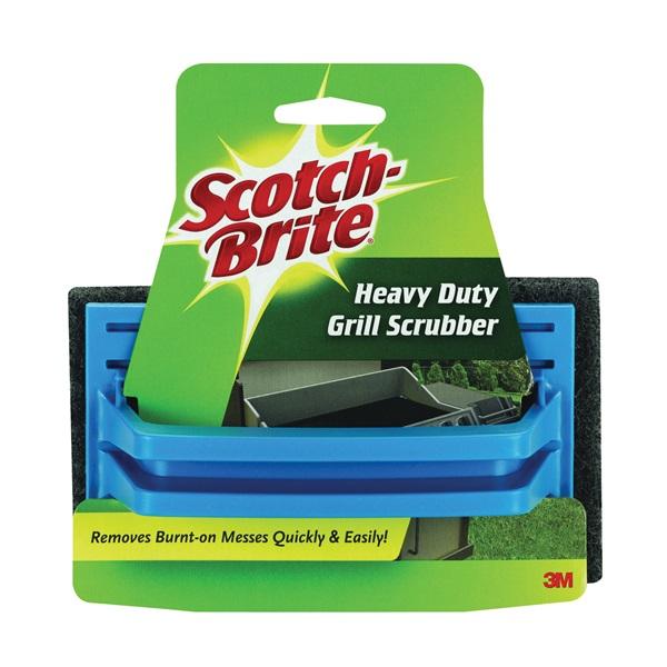 Picture of Scotch-Brite 7721 Grill Scrubber, 6 in L, 4 in W, Brown