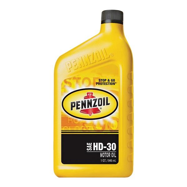 Picture of Pennzoil 550034991/3539 Motor Oil, 30WT, 1 qt Package, Bottle