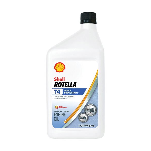 Picture of Shell Rotella T4 Triple Protection Series 550045140 Engine Oil, 15W-40, 1 qt Package