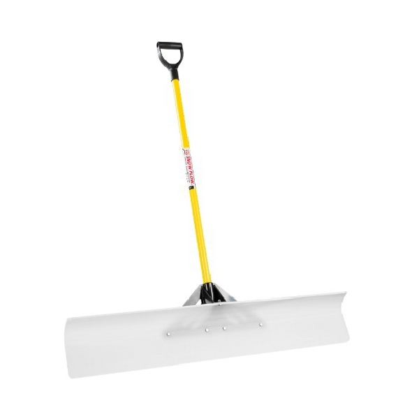 Picture of THE SNOWPLOW 50548 Snow Pusher, 48 in W Blade, UHMW Polyethylene Blade, Fiberglass Handle, D-Grip Handle