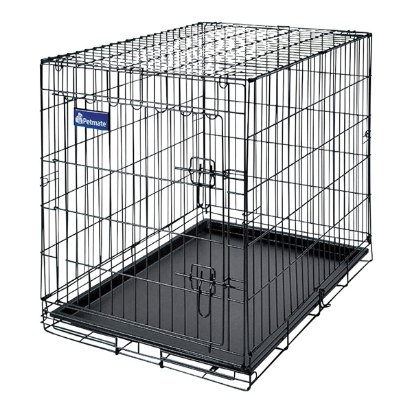 Picture of Aspenpet 41276/21944 Pet Kennel, 34 in OAL, 22 in OAW, 25 in OAH, Epoxy-Coated, Black