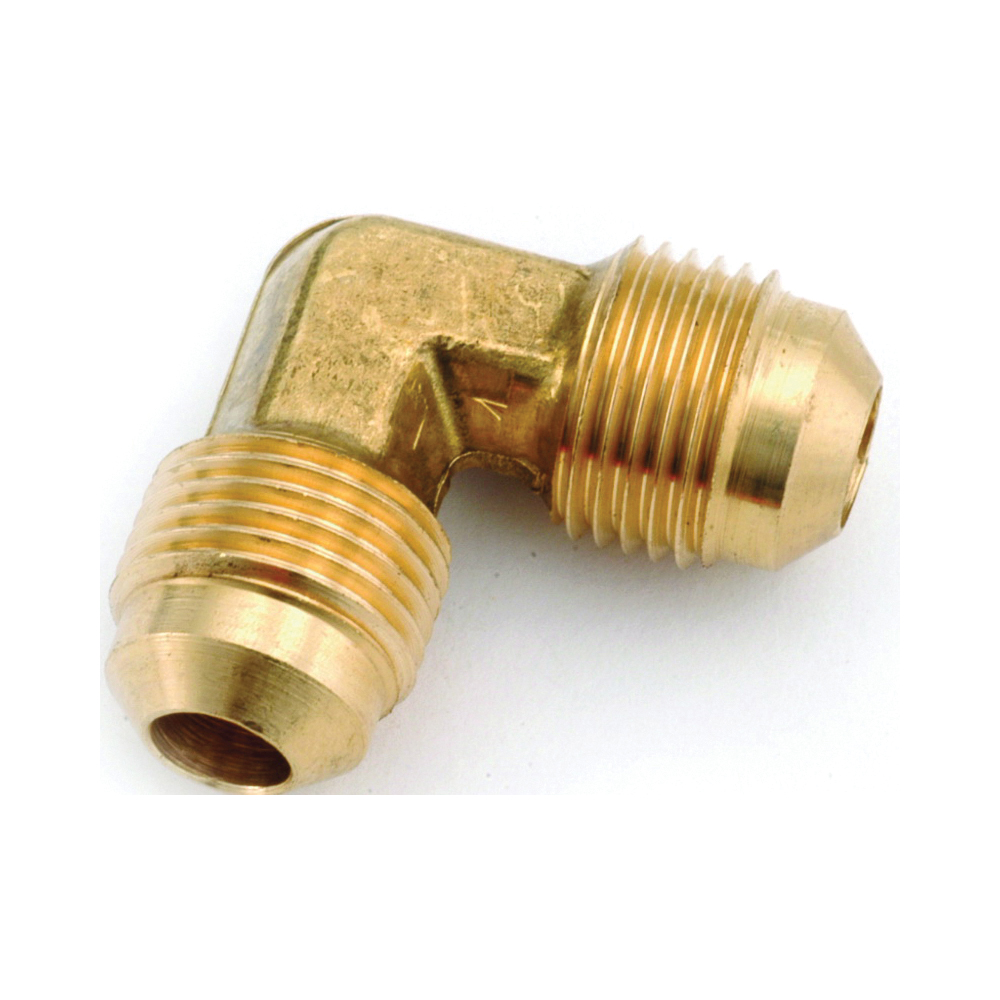 Picture of Anderson Metals 754055-06 Tube Elbow, 3/8 in, 90 deg Angle, Lead-Free Brass, 1000 psi Pressure