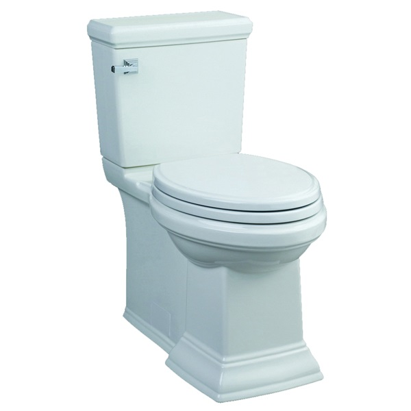 Picture of American Standard Town Square 3851A101.020 Toilet Bowl, Elongated, 1.28 gpf Flush, 12 in Rough-In, Vitreous China