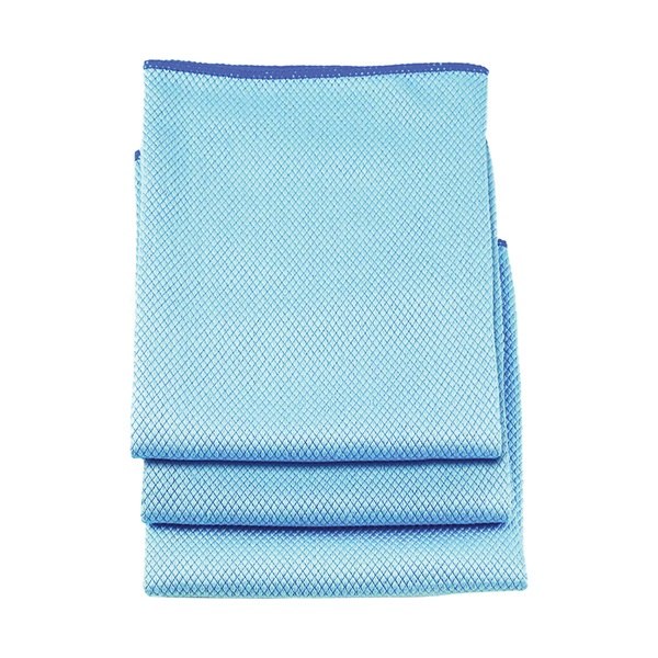 Picture of Professional Unger 966900 Microfiber Cloth Towel, 18 in L, 18 in W, Microfiber Cloth, 3, Pack