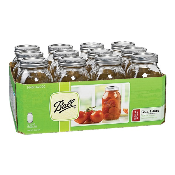 Picture of Ball 1440062000 Mason Jar, 32 oz Capacity, Glass