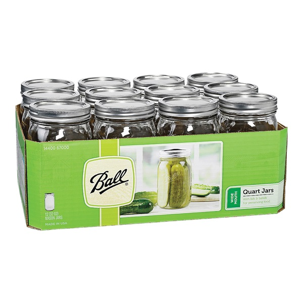 Picture of Ball 1440067000 Mason Jar, 32 oz Capacity, Glass