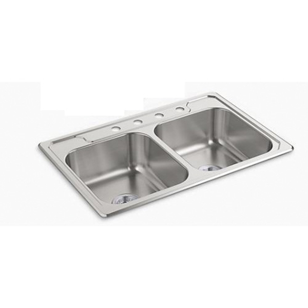 Picture of Sterling Middleton 14707-4-NA Kitchen Sink, 4-Faucet Hole, 22 in OAW, 7 in OAD, 33 in OAH, Stainless Steel
