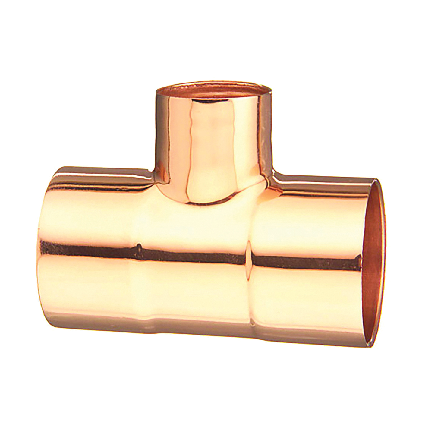 Picture of EPC 111R Series 329782X2X1 Pipe Reducing Tee, 2 x 2 x 1 in, Sweat, Wrot Copper