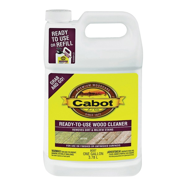 Picture of Cabot Problem-Solver 8007 Wood Cleaner, 1.33 gal Package, Can, Liquid, Brown