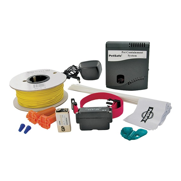 Picture of PetSafe HIG11-11052 Dog Fence Kit, Battery, Alkaline Battery, Synthetic