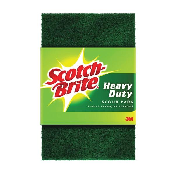 Picture of Scotch-Brite 220 Scour Pad, 6 in L, 3.85 in W, Green