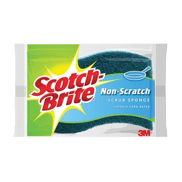 Picture of Scotch-Brite 520 Scrub Sponge, 4 in L, 2.6 in W, Blue