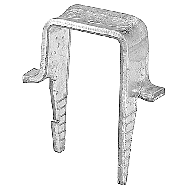 Picture of Thomas & Betts S3M15 Cable Staple, 12.446 mm L Leg, 0.7 in W Crown, Steel, Silver