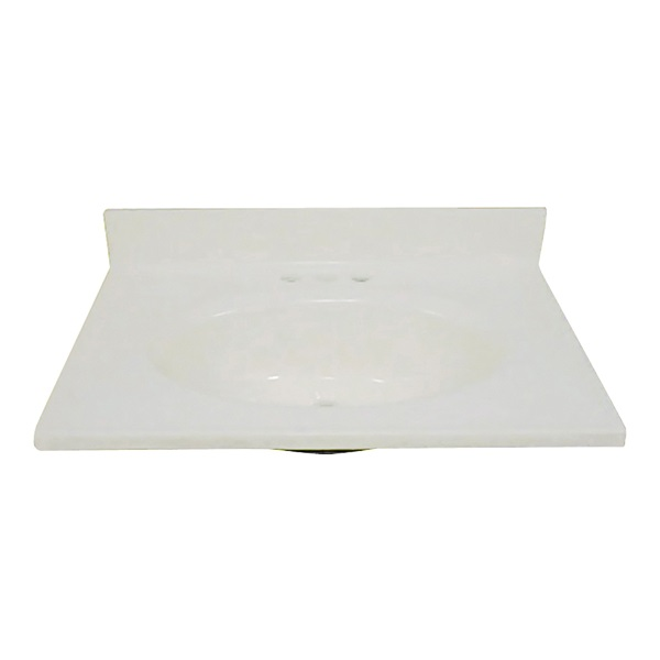 Picture of Foremost BS-2231 Vanity Top, 31 in OAL, 22 in OAW, Marble, Bone, Countertop Edge