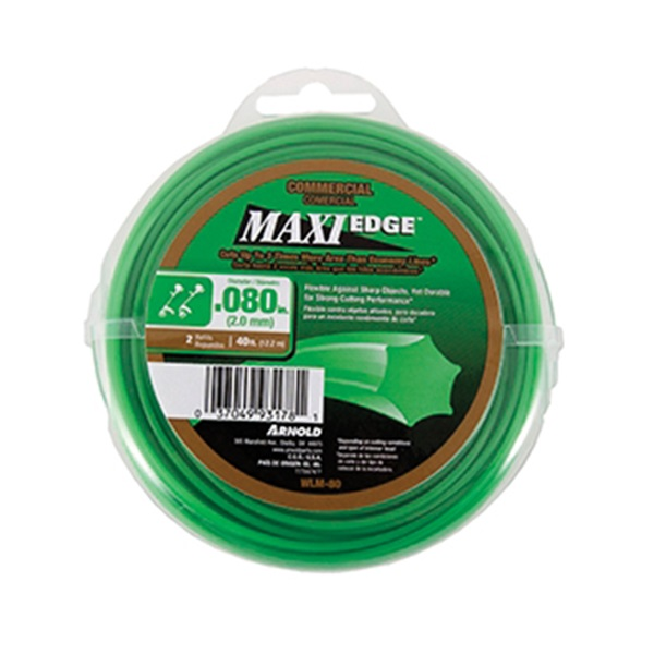 Picture of ARNOLD Maxi Edge WLM-80 Trimmer Line, 0.08 in Dia, 40 ft L, Polymer, Green
