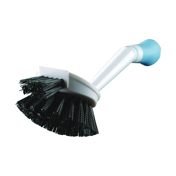 Picture of Quickie 121MB Dishwash Brush with Microban, Polypropylene Bristle, Plastic Handle, Blue/White
