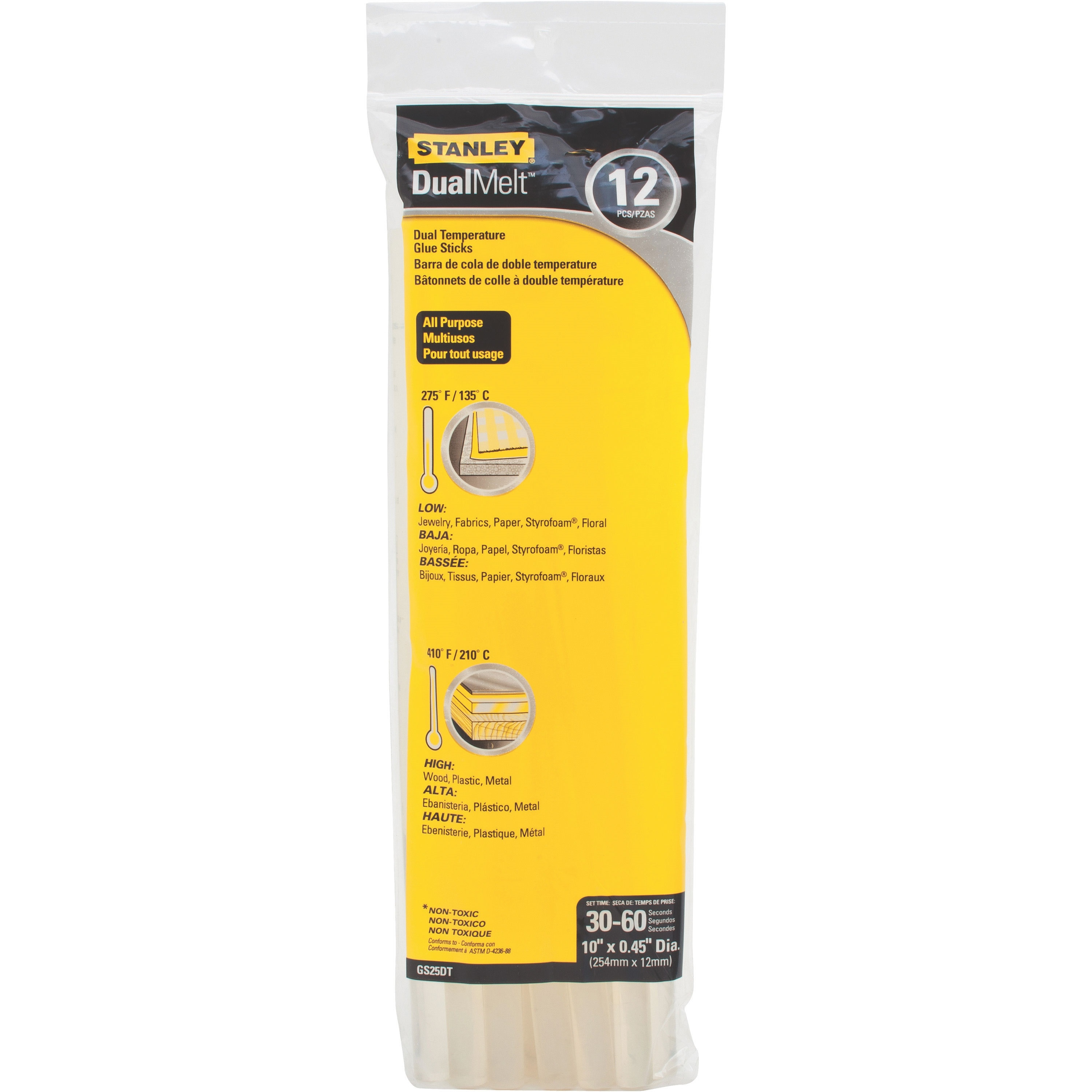 Picture of STANLEY DualMelt GS25DT Glue Stick, Stick, Resin Odor, Opaque