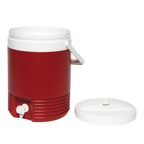 Picture of IGLOO Legend 2214 Beverage Jug with Handle, 2 gal Cooler, Plastic, Diablo Red