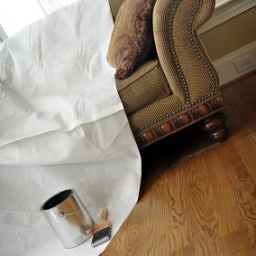 Picture of Trimaco SUPERTUFF 02301 Drop Cloth, 12 ft L, 9 ft W, Paper, White