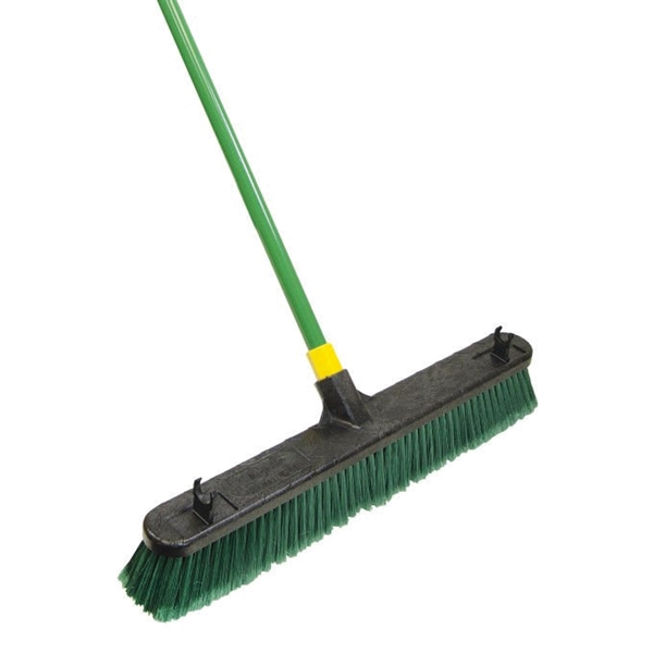 Picture of Quickie 00538 Push Broom, 24 in Sweep Face, Polypropylene Bristle, Steel Handle