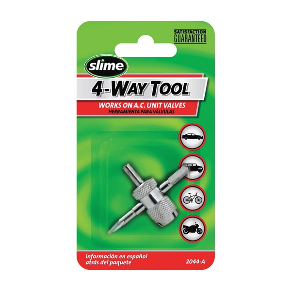 Picture of Slime 2044-A Tire Valve Tool, 4 -Port/Way, Steel
