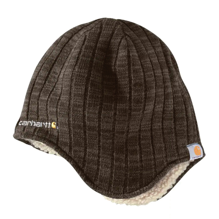 Picture of Carhartt 100774-201 Akron Hat, Men's, One-Size, Acrylic/Polyester, Dark Brown