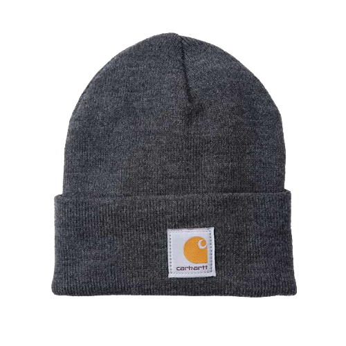 Picture of Carhartt A18-CLH Watch Hat, Beanie, Men's, One-Size, Acrylic, Coal Heather