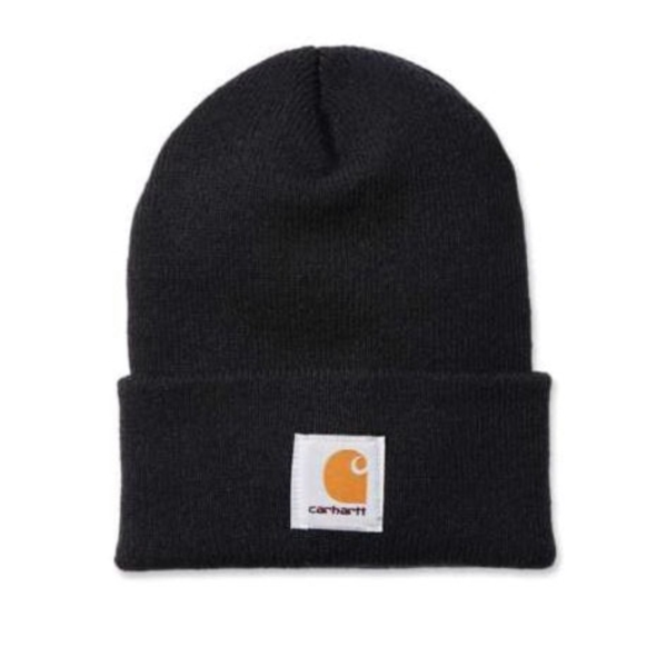 Picture of Carhartt A18-BLK Watch Hat, Beanie, Men's, One-Size, Acrylic, Black