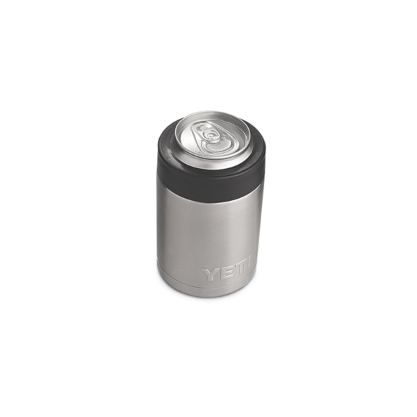 Picture of YETI Rambler 21070090001 Colster, 3-1/8 in OD x 4-7/8 in H, 12 oz Can/Bottle, Stainless Steel
