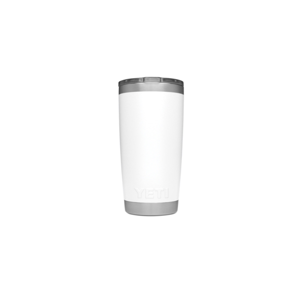 Picture of YETI Rambler 21070060025 Tumbler, 20 oz Capacity, MagSlider Lid, Stainless Steel, White