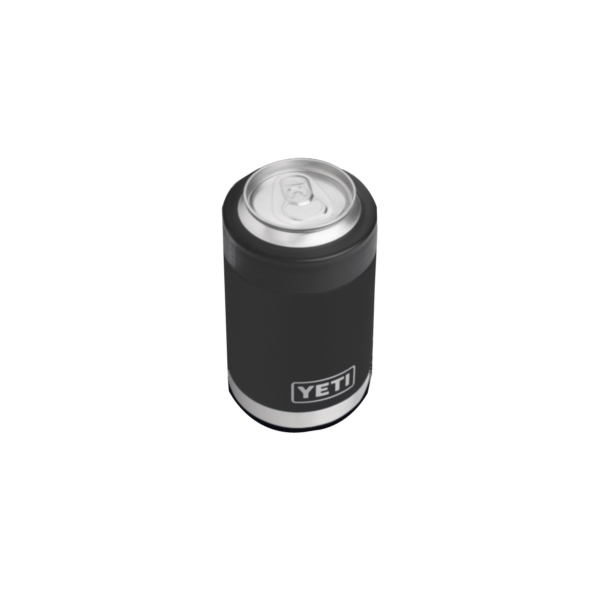 Picture of YETI Rambler 21070090007 Colster, 3-1/8 in OD x 4-7/8 in H, 12 oz Can/Bottle, Stainless Steel, Black