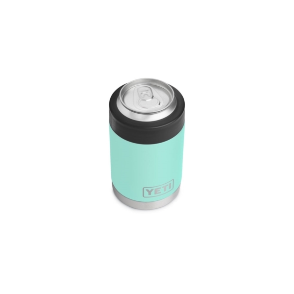 Picture of YETI Rambler 21070090005 Colster, 3-1/8 in OD x 4-7/8 in H, 12 oz Can/Bottle, Stainless Steel, Seafoam