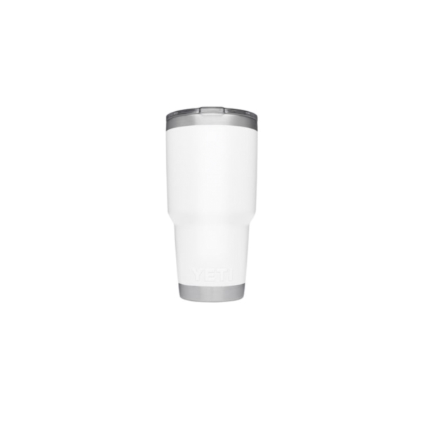 Picture of YETI Rambler 21070070024 Tumbler, 30 oz Capacity, MagSlider Lid, Stainless Steel, White