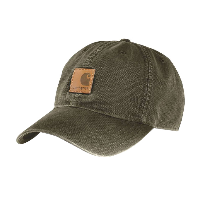 Picture of Carhartt 100289-301 Odessa Cap, Men's, One-Size, Cotton, Army Green