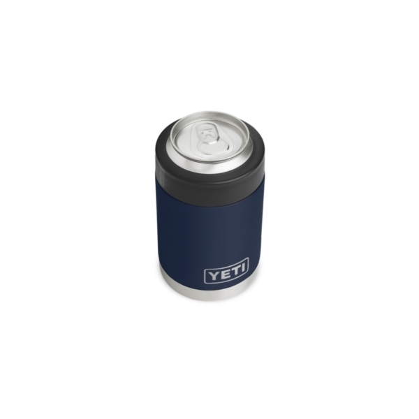 Picture of YETI Rambler 21070090020 Colster, 3-1/8 in OD x 4-7/8 in H, 12 oz Can/Bottle, Stainless Steel, Navy