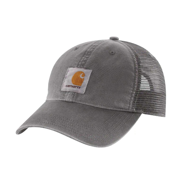 Picture of Carhartt 100286-039 Buffalo Cap, Embroidered Logo, Men's, One-Size, Cotton/Polyester, Gravel