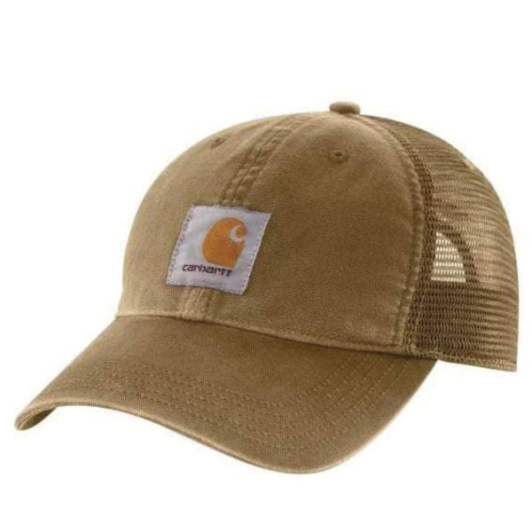 Picture of Carhartt 100286-253 Buffalo Cap, Embroidered Logo, Men's, One-Size, Cotton/Polyester, Dark Khaki