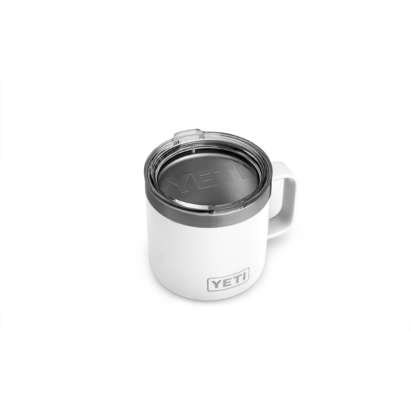 Picture of YETI Rambler 21071300145 Camp Mug With Lid, 14 oz Capacity, Stainless Steel, White, Insulated