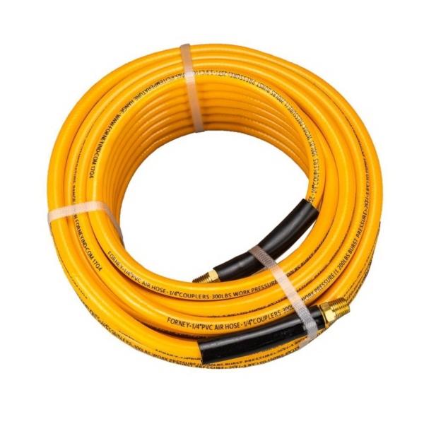 Picture of Forney 75407 Air Hose, 1/4 in ID, 50 ft L, MNPT, 300 psi Pressure, PVC, Orange