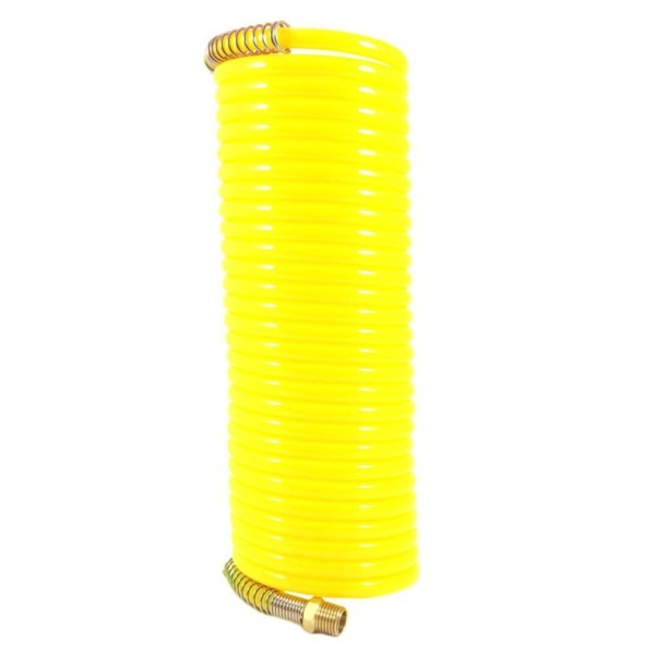 Picture of Forney 75418 Air Hose, 1/4 in ID, 25 ft L, MNPT, 200 psi Pressure, Nylon, Bright Yellow