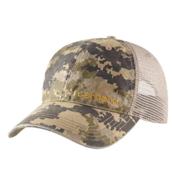 Picture of Carhartt 101194-910 Brandt Cap, Men's, One-Size, Cotton/Polyester, Camouflage/Dark Khaki