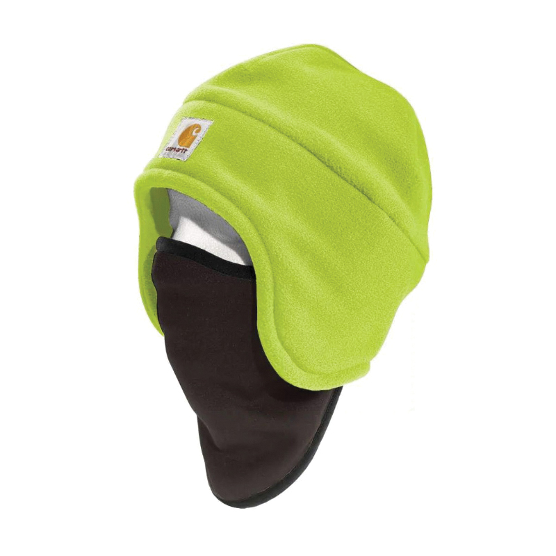 Picture of Carhartt 100795-323 Fleece Hat, Men's, One-Size, Cotton/Polyester/Spandex, Brite Lime