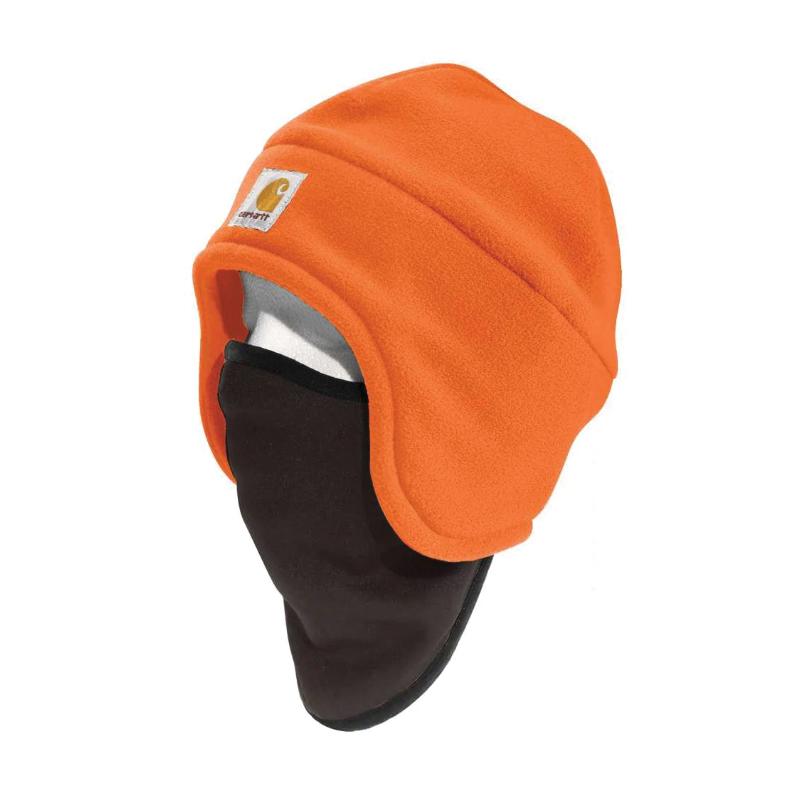 Picture of Carhartt 100795-824 Fleece Hat, Men's, One-Size, Cotton/Polyester/Spandex, Brite Orange