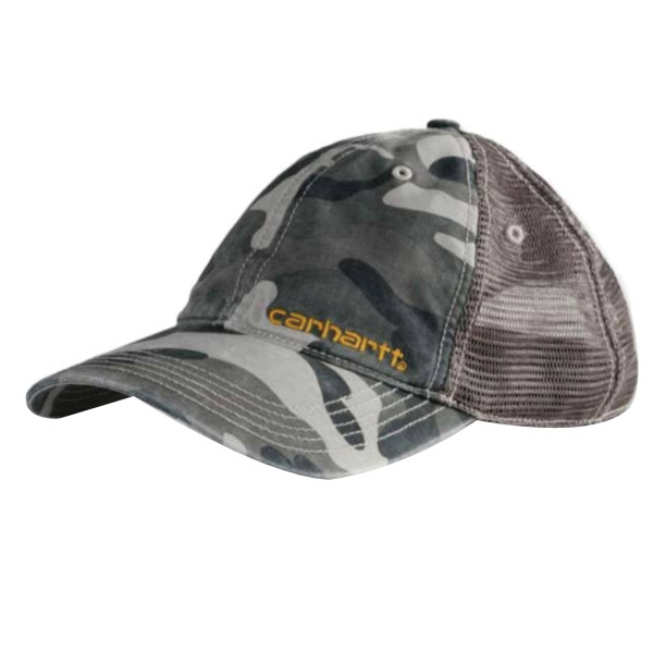Picture of Carhartt 101194-071 Brandt Cap, Men's, One-Size, Cotton/Polyester, Camouflage/Gray
