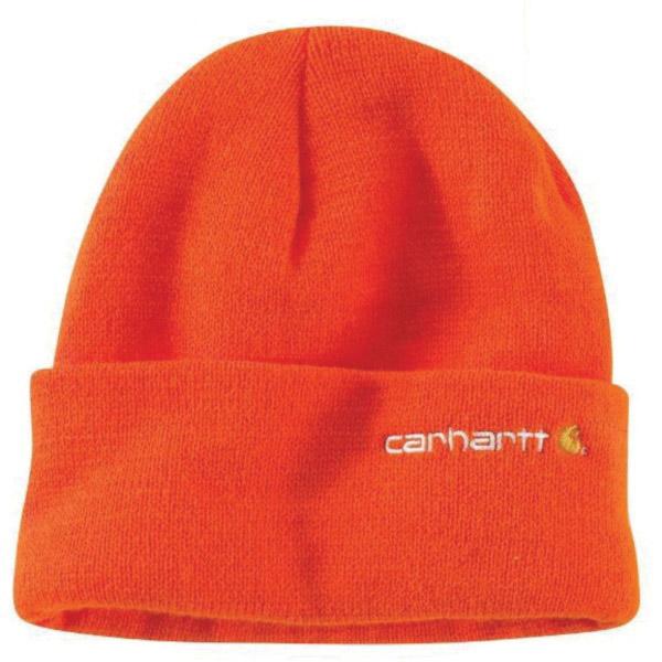 Picture of Carhartt 100773-824 Wetzel Watch Hat, Men's, One-Size, Acrylic, Brite Orange