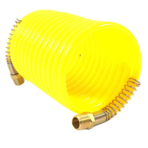 Picture of Forney 75417 Air Hose, 1/4 in ID, 12 ft L, MNPT, 200 psi Pressure, Nylon, Bright Yellow