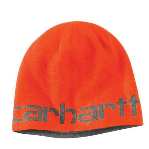 Picture of Carhartt 100137-824 Reversible Hat, Greenfield, Men's, One-Size, Acrylic, Brite Orange